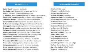 Organigramma - Membri Eletti, Segretari Regionali